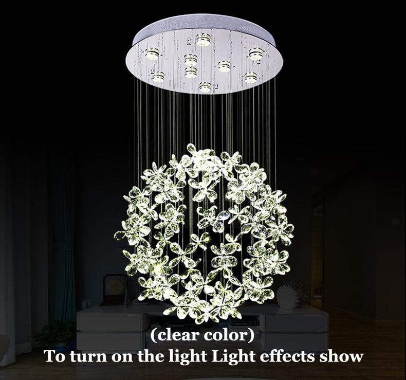 Style Crystal Modern Comtemporary Recommended Room Fit Living Bedroom Size 15 75 Number Of Lights Set According To Customer
