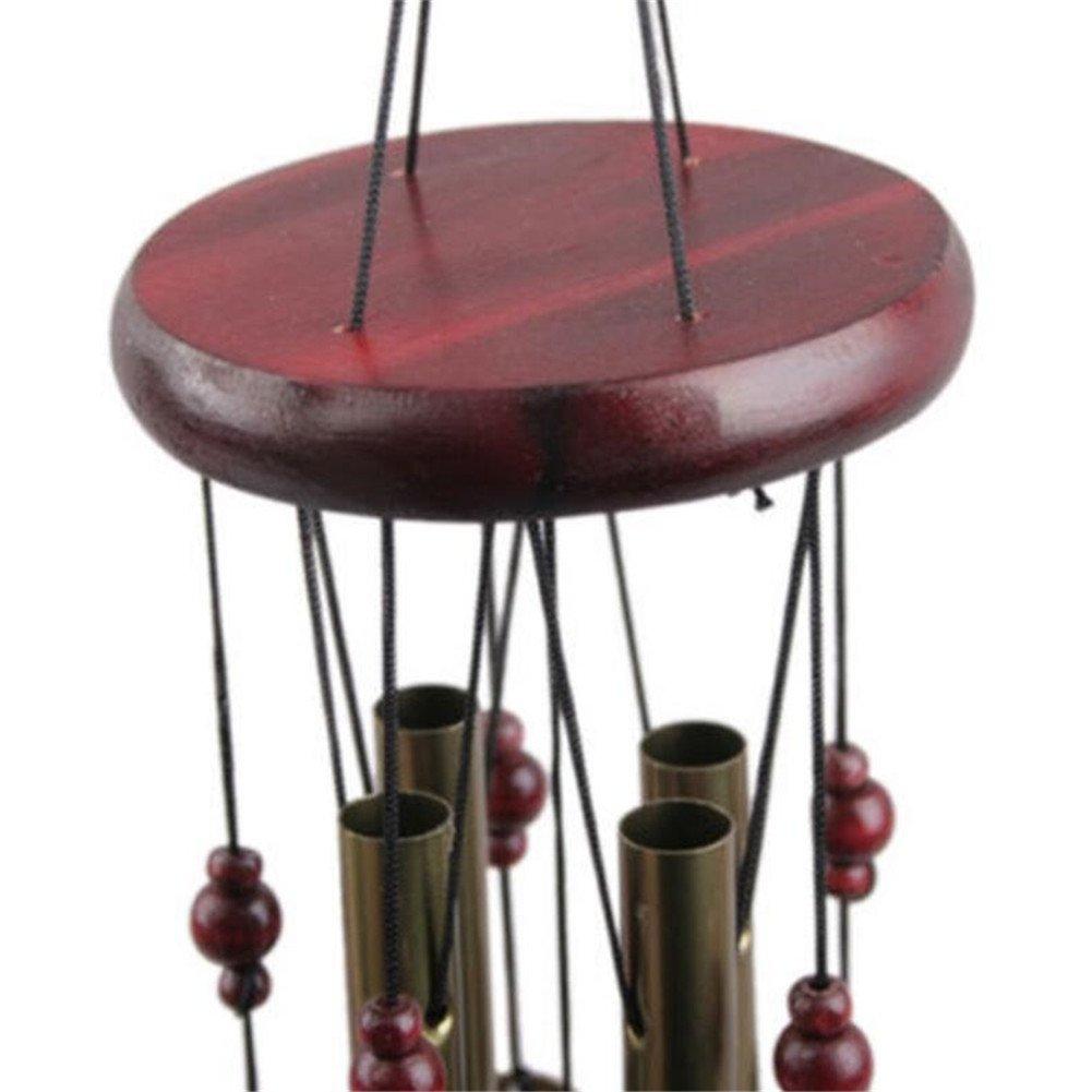 New 4 Tubes 5 Bells Bronze Yard Garden Outdoor Living Wind Chimes
