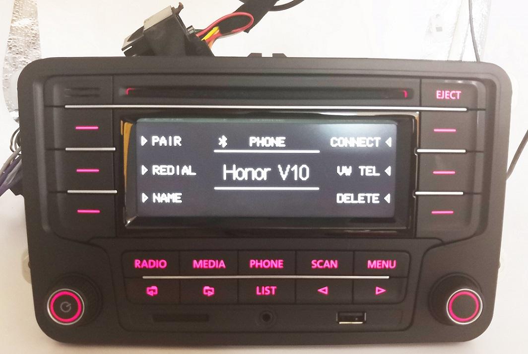 vw autoradio rcn210 mit can kabel bluetooth cd usb aux sd. Black Bedroom Furniture Sets. Home Design Ideas