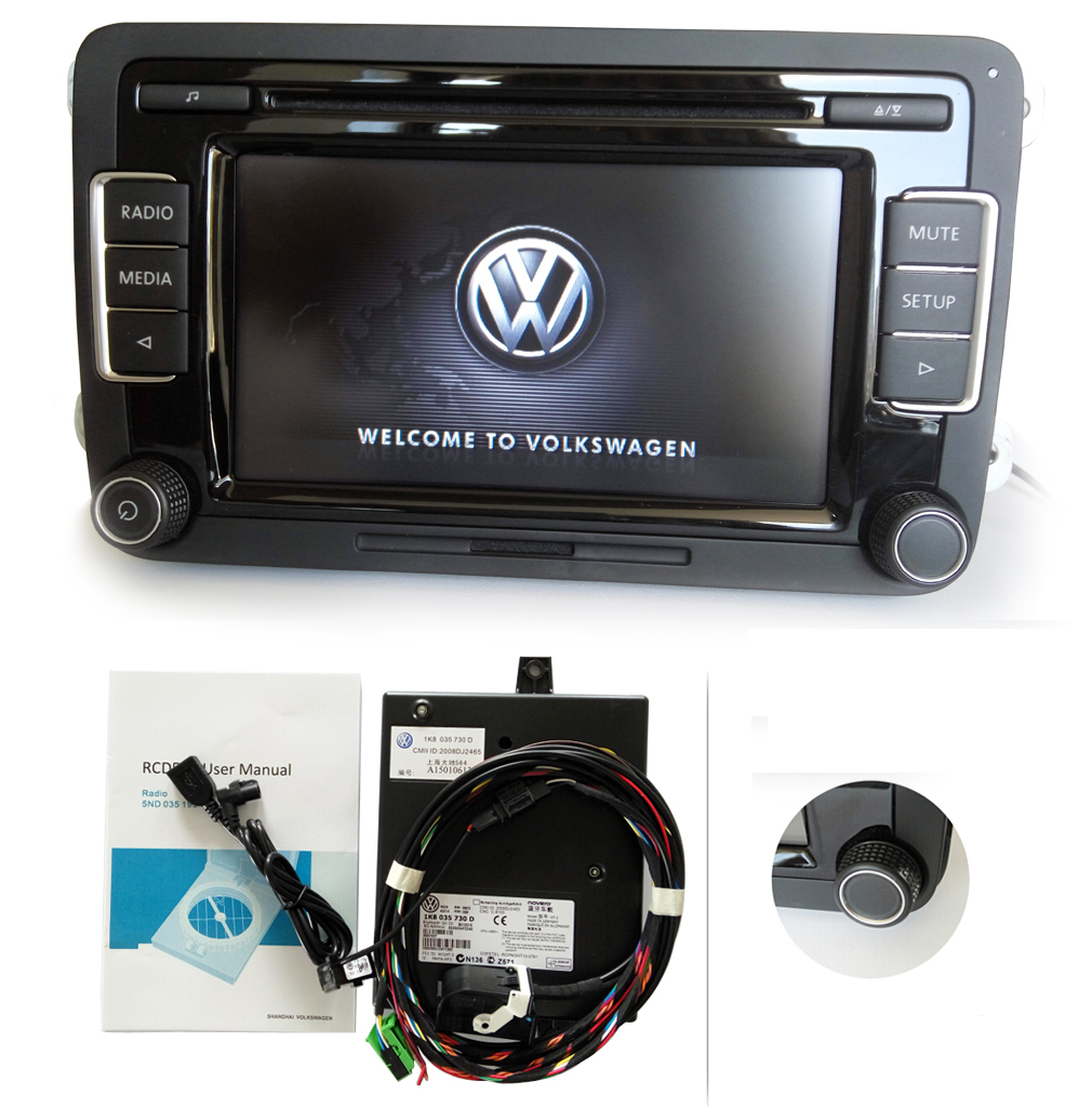 vw autoradio rcd510 mit bluetooth modul usb kabel aux mp3. Black Bedroom Furniture Sets. Home Design Ideas