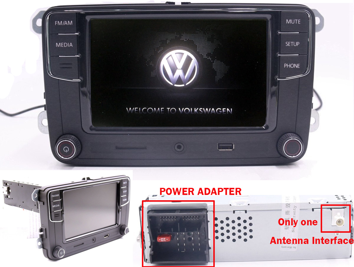 6 5 autorradio vw rcd510 rcd330g bt usb rvc aux golf. Black Bedroom Furniture Sets. Home Design Ideas