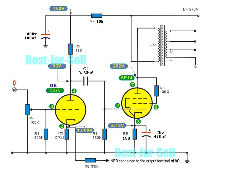 Fever 6N3+6P14/EL84 Single Ended Tube Amp Bare PCB DIY ...
