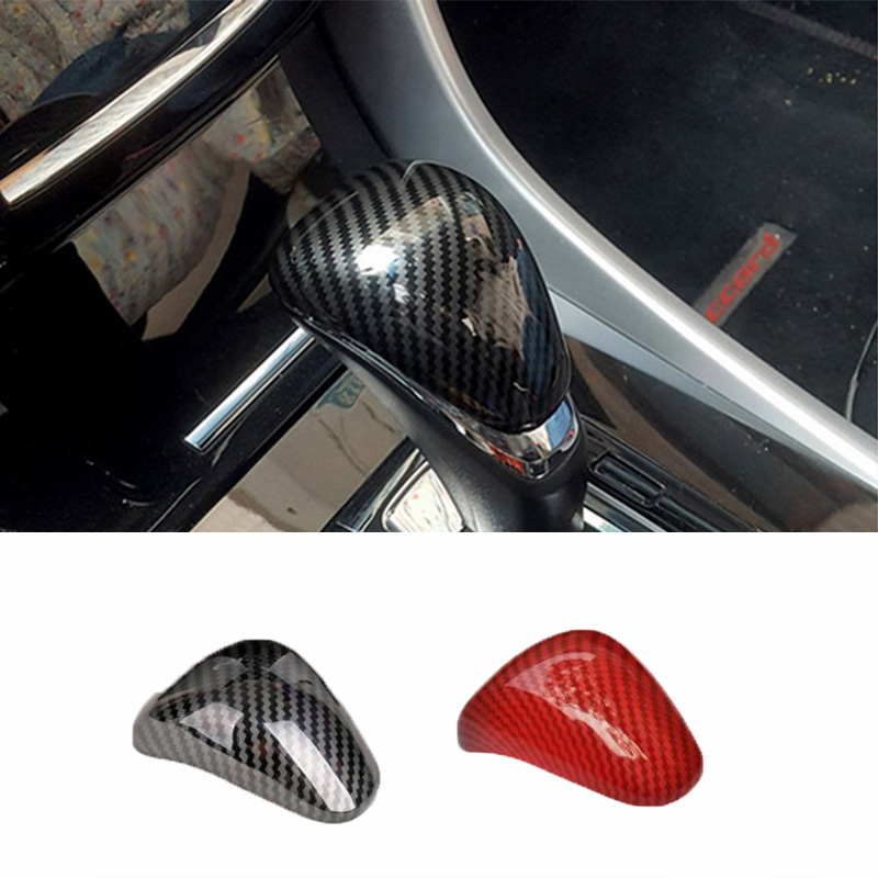 X AUTOHAUX Car Gear Shift Knob Panel Cover Sticker Red for Honda Accord 2018