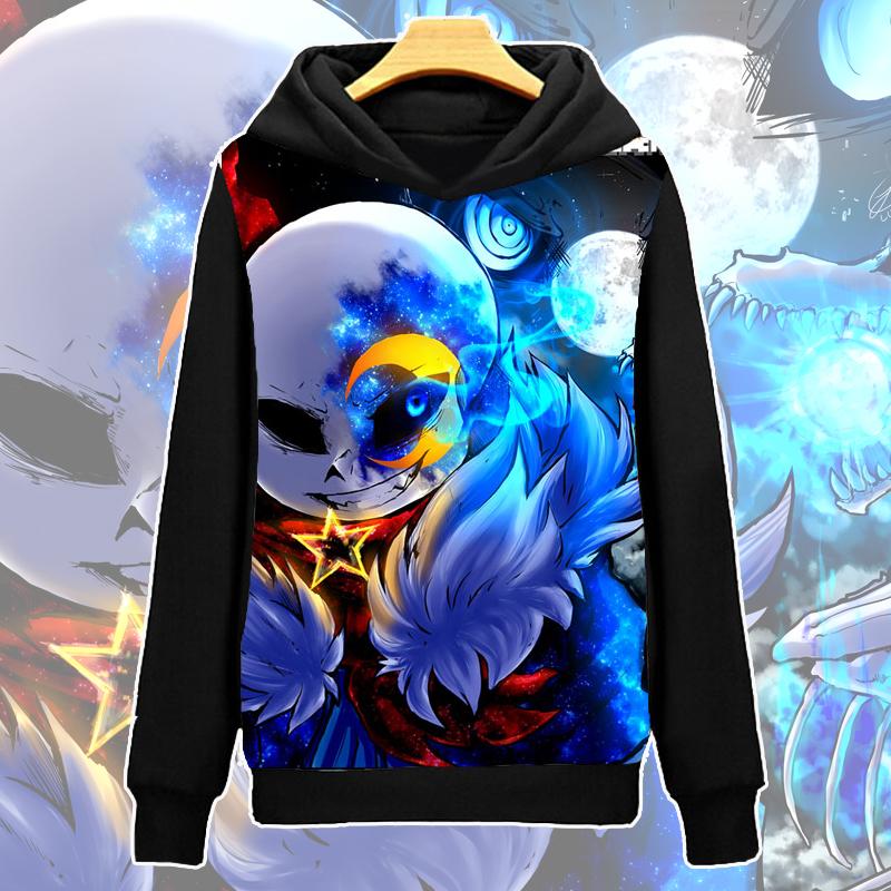 Anime Game Undertale Coat Unisex Black Sweater Sweatshirt Hoodie Tops S-3XL #01