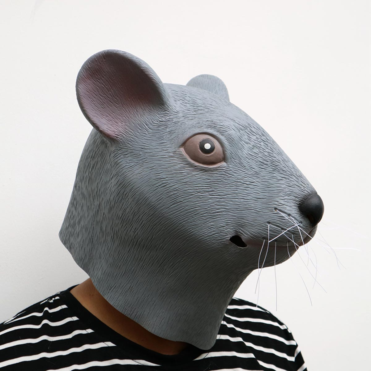 NEW Vivid Natural Latex Mouse Full Face Cosplay Halloween Mask Props LJ68