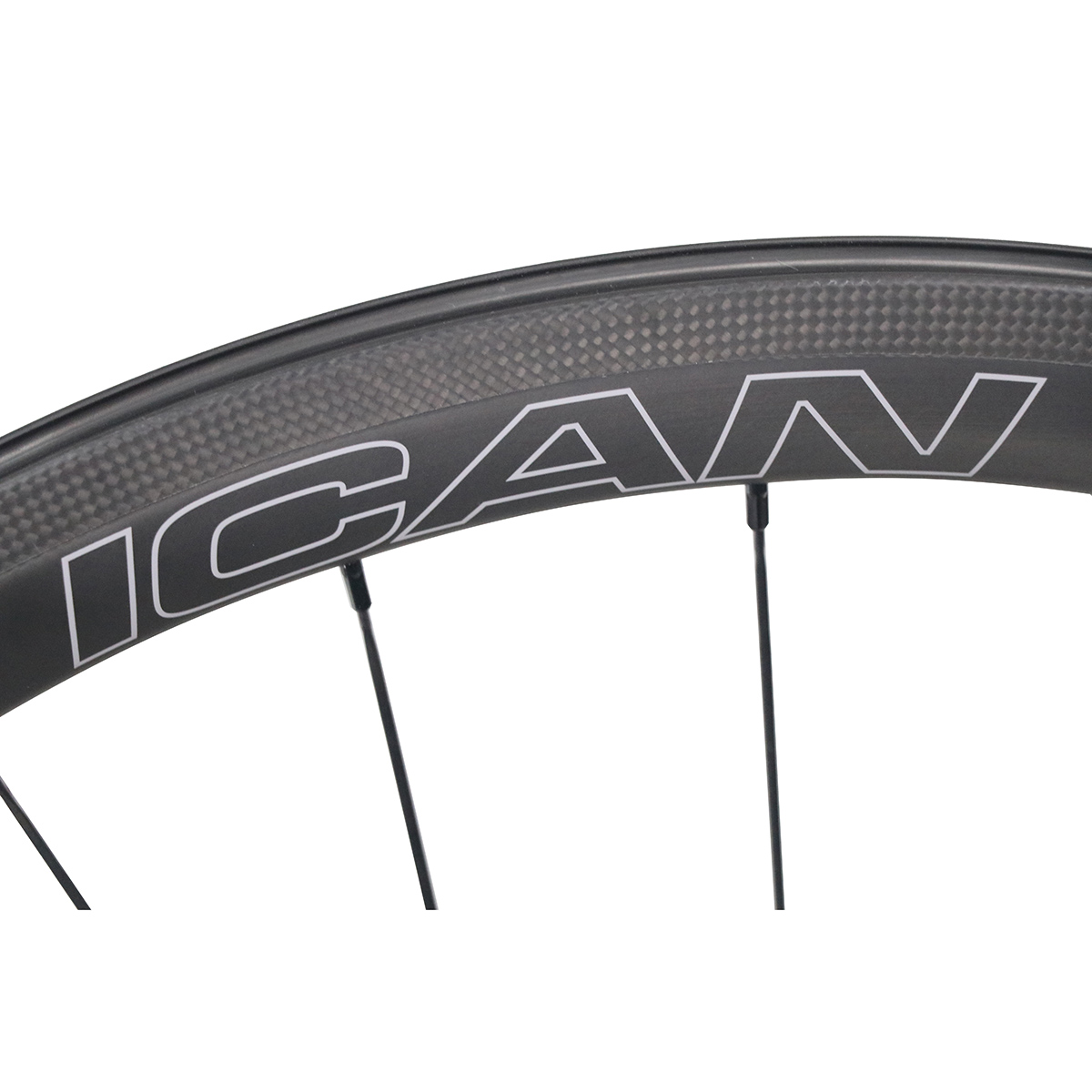 ICAN-Carbon-Fiber-Road-Bike-Wheelset-40mm-Clincher-Tubeless-Ready thumbnail 8