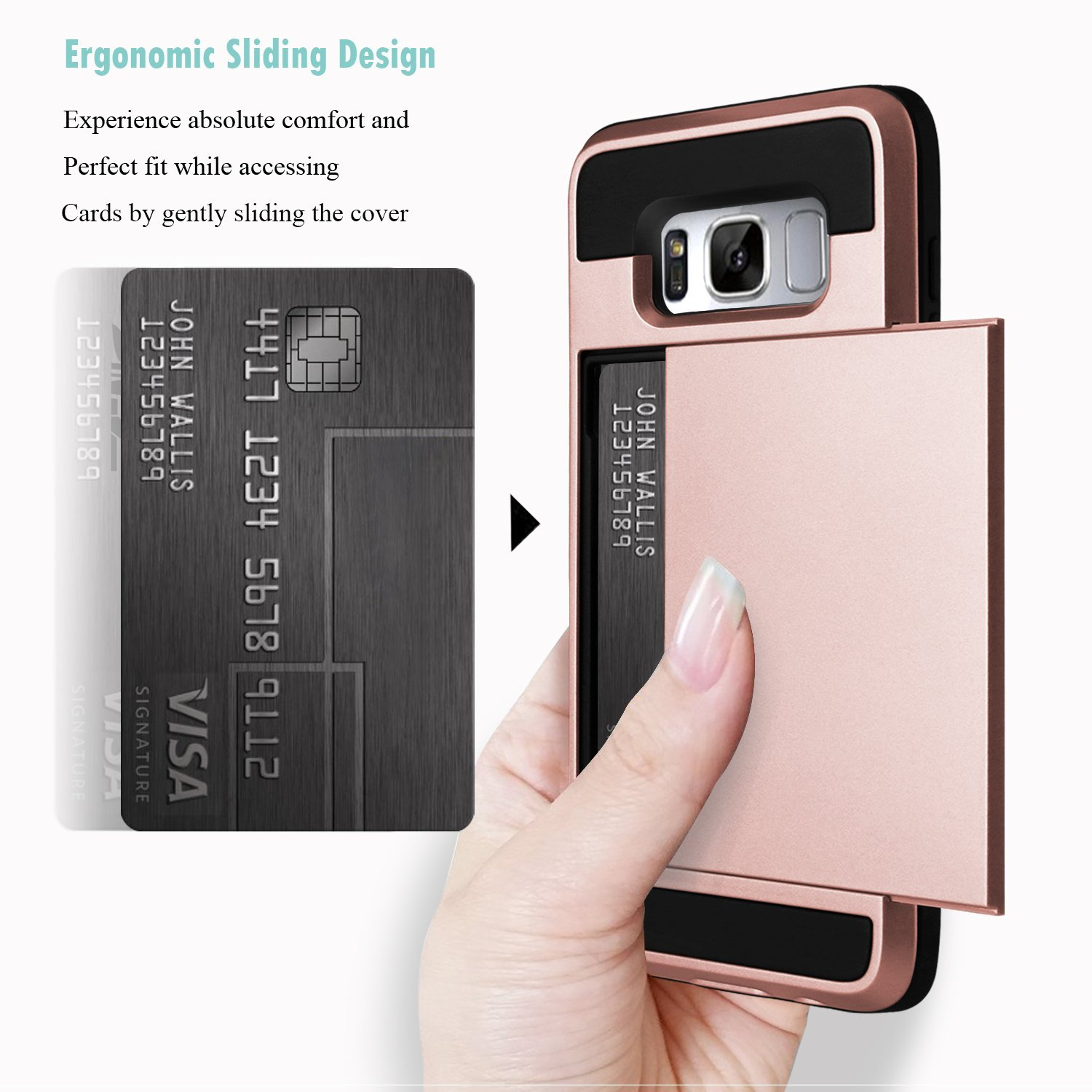 for samsung galaxy s10 note 9 s9 s8 rugged armor card. Black Bedroom Furniture Sets. Home Design Ideas