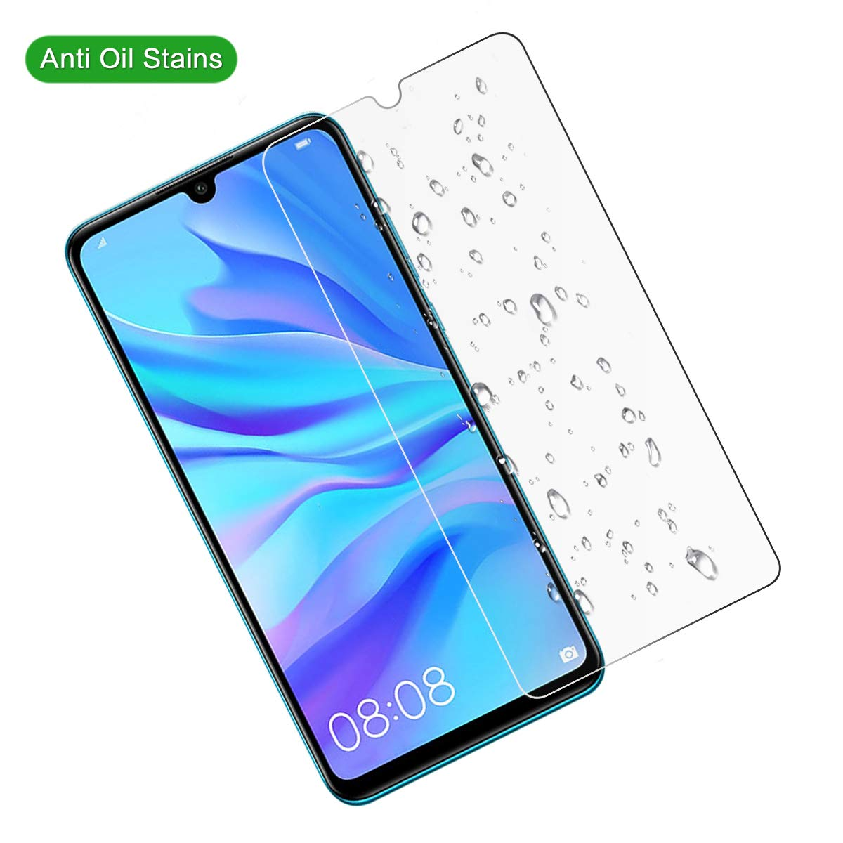 No Retail Package LGYD 50 PCS Non-Full Matte Frosted Tempered Glass Film for Huawei Honor 20 Lite