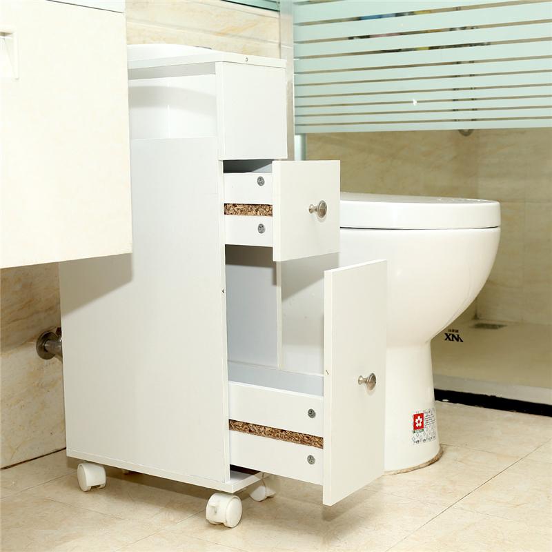 Badschrank Badezimmerschrank mit Rollen Home Hochschrank ...
