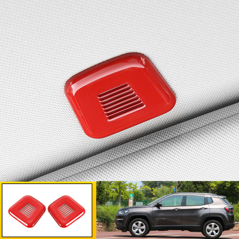 Fit For Jeep Grand Cherokee 2011-2020 ABS Silver Car Roof Microphone Decoration
