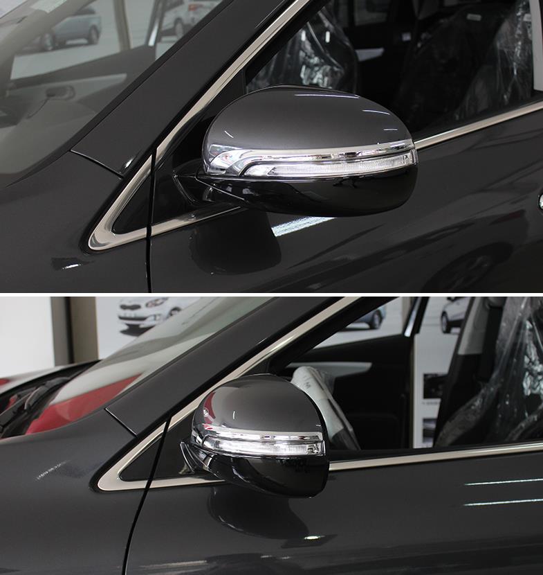 Chrome Rearview Side Mirrors Cover trim for 2015-2017 KIA SORENTO Mirror