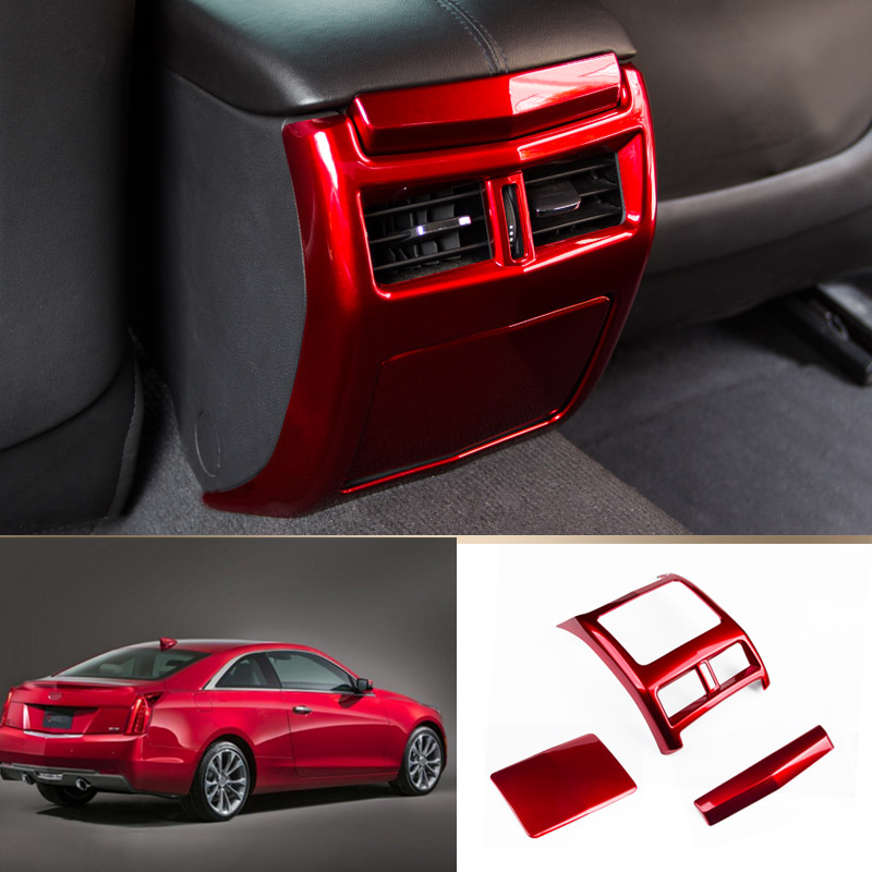 For Cadillac ATS 2013-2019 2018 ABS Red Rear Air Outlet