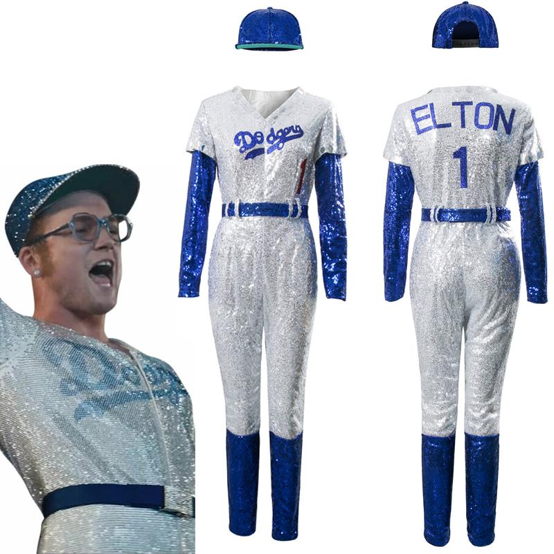 rocketman elton john dodgers baseball uniform cosplay