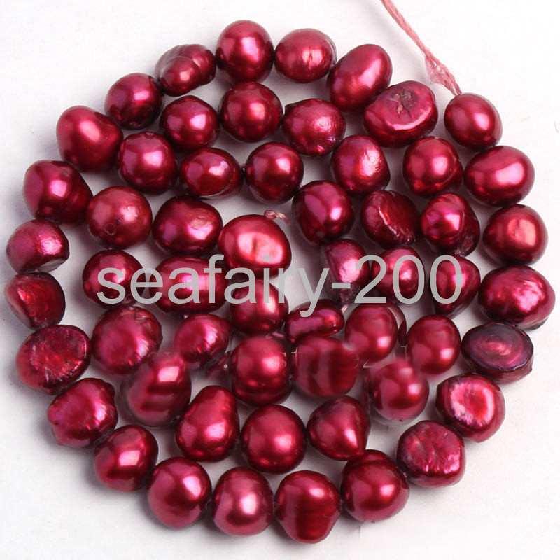 "8-9mm Natural black Freshwater Pearl Freeform Shape Gems Loose Beads Strand 15/"""