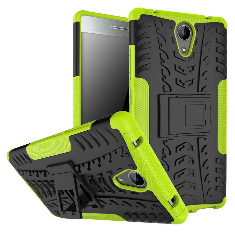... Shockproof Hard Heavy Duty Stand Armor Case Cover For Lenovo A7700 Vibe P1M K6