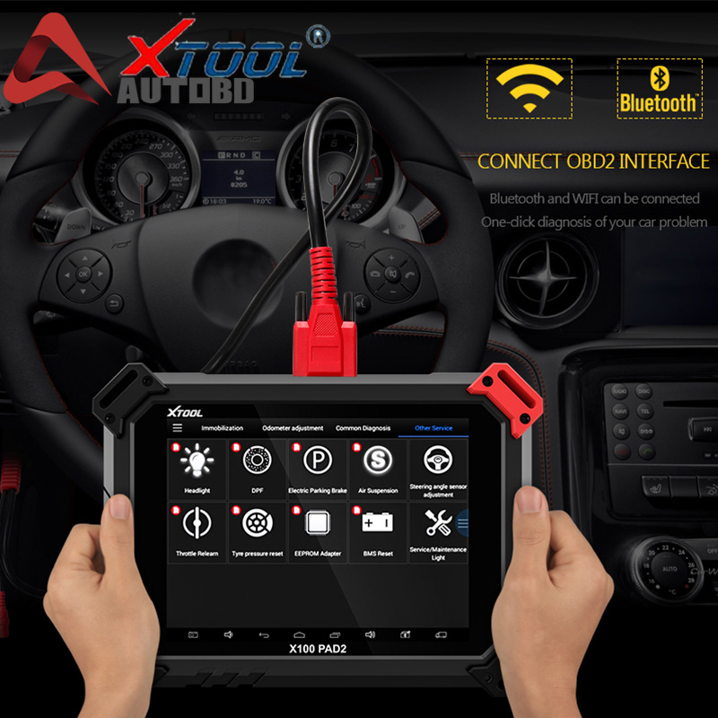 Details about XTOOL X100 PAD2 OBD2 Key Program Immobilizer EEPROM EPB EUC  TPMS Diagnostic Tool