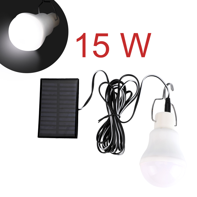 4X Indoor Outdoor Solar Power LED Light Bulbs Shed Tent Camping Hanging Lamp 15W