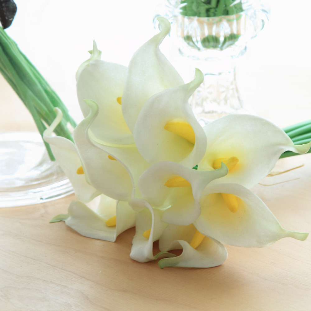 Artificial fake calla lily flowers bouquet bridal home garden artificial fake calla lily flowers bouquet bridal home garden wedding decoration izmirmasajfo