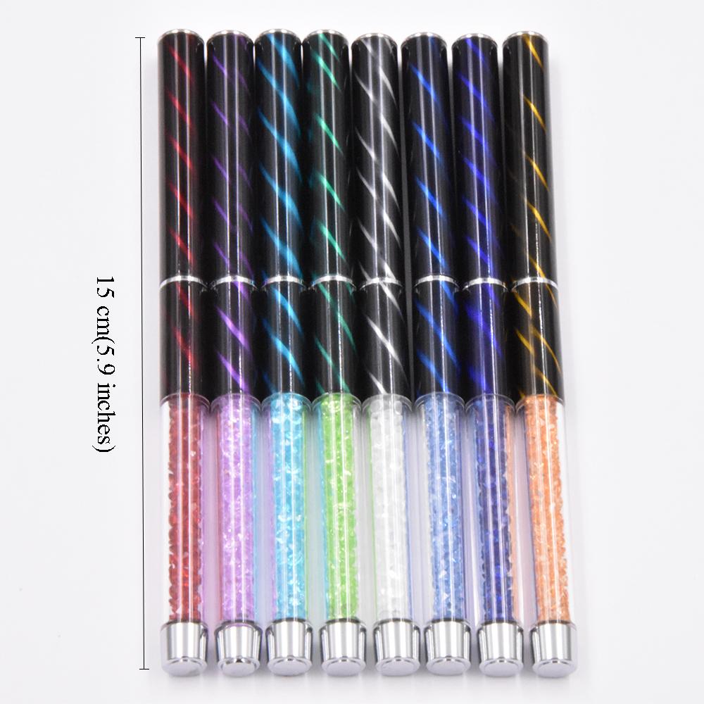 UV Gel & Acrylic Nails Art Design 8Pcs Nail Painting Drawing Liner ...