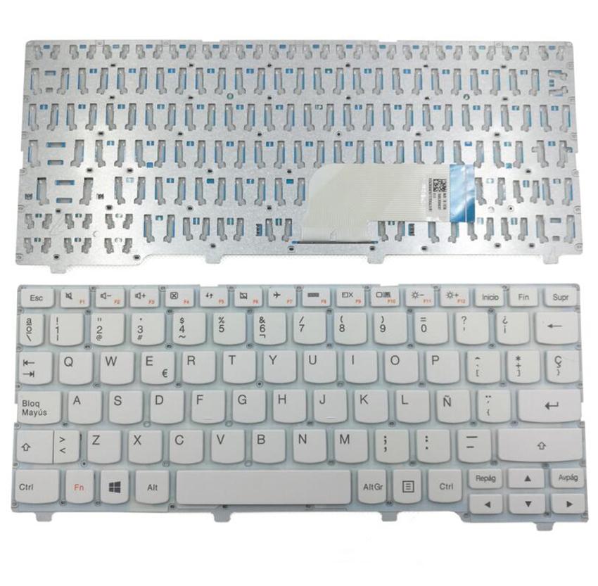 For Lenovo Ideapad 100S-11IBY SP Spanish Layout White Laptop