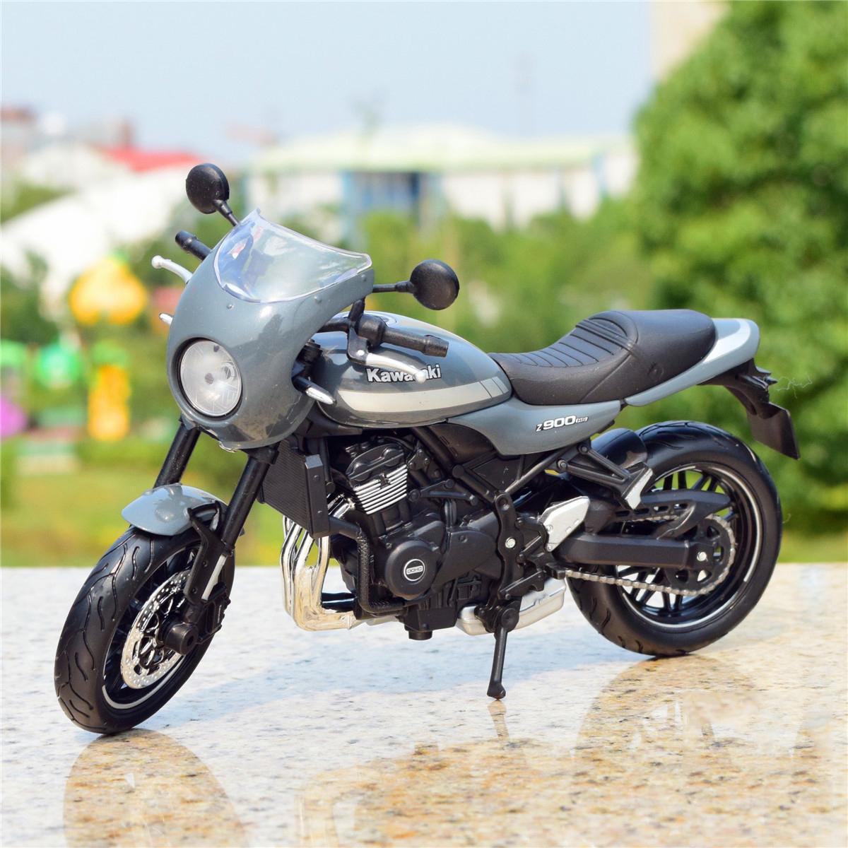 Kawasaki Z900rs Retro Imminent: Kawasaki Z900RS Cafe 1:12 Diecast Model Bike Gray Vintage