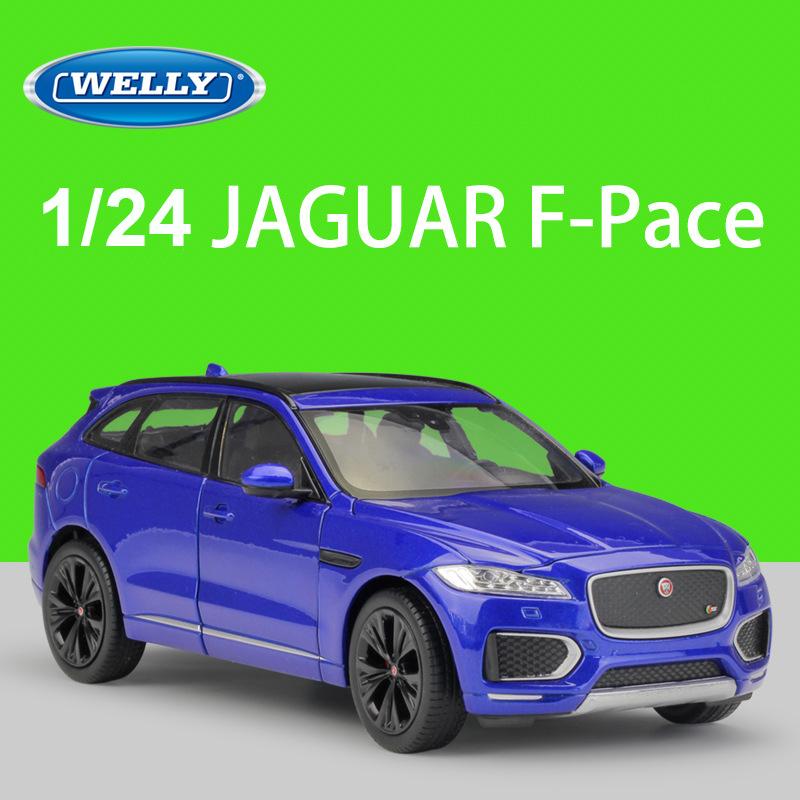 Choose Color WELLY Jaguar F-Pace 1:24 Diecast Car