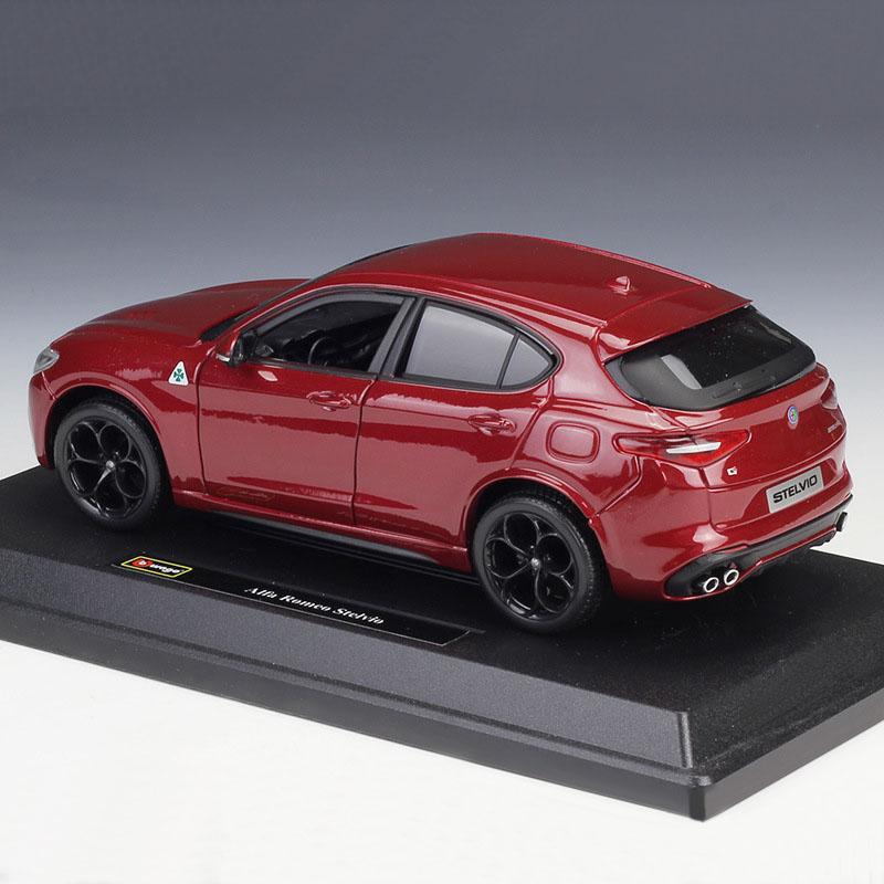 Alfa Romeo Models >> Details About Bburago 1 24 Scale Alfa Romeo Stelvio Diecast Models Car Suv Toys Model For Gift