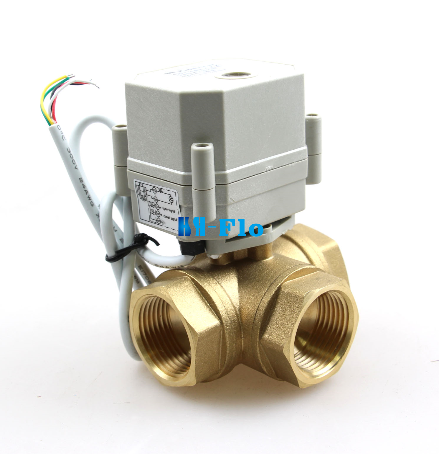 3 Way 12v  24v  110v  220v 1  2 U0026quot  To 1 U0026quot  Brass Electrical Ball