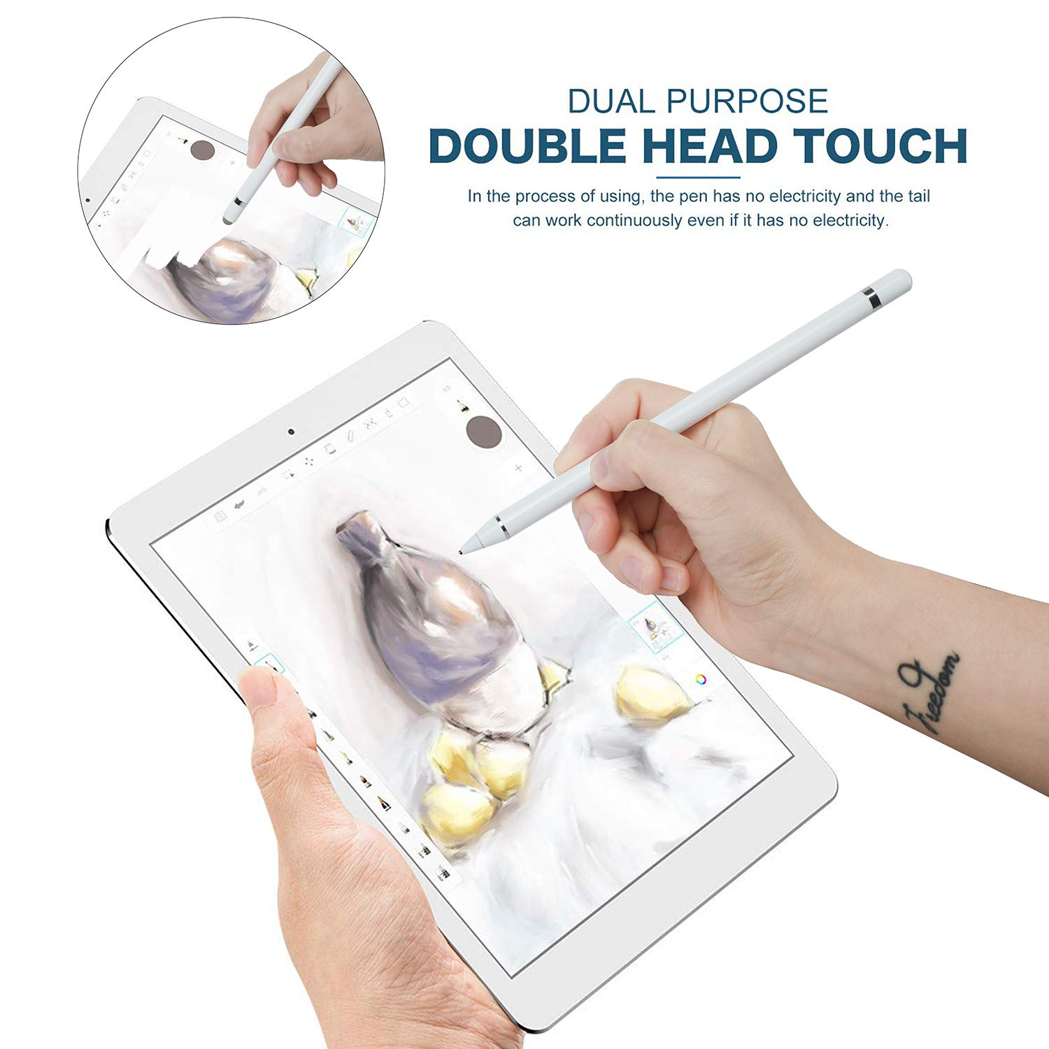 Active Stylus Digital Pen for Touch Screens for iPad iPhone Samsung Phone /&Table