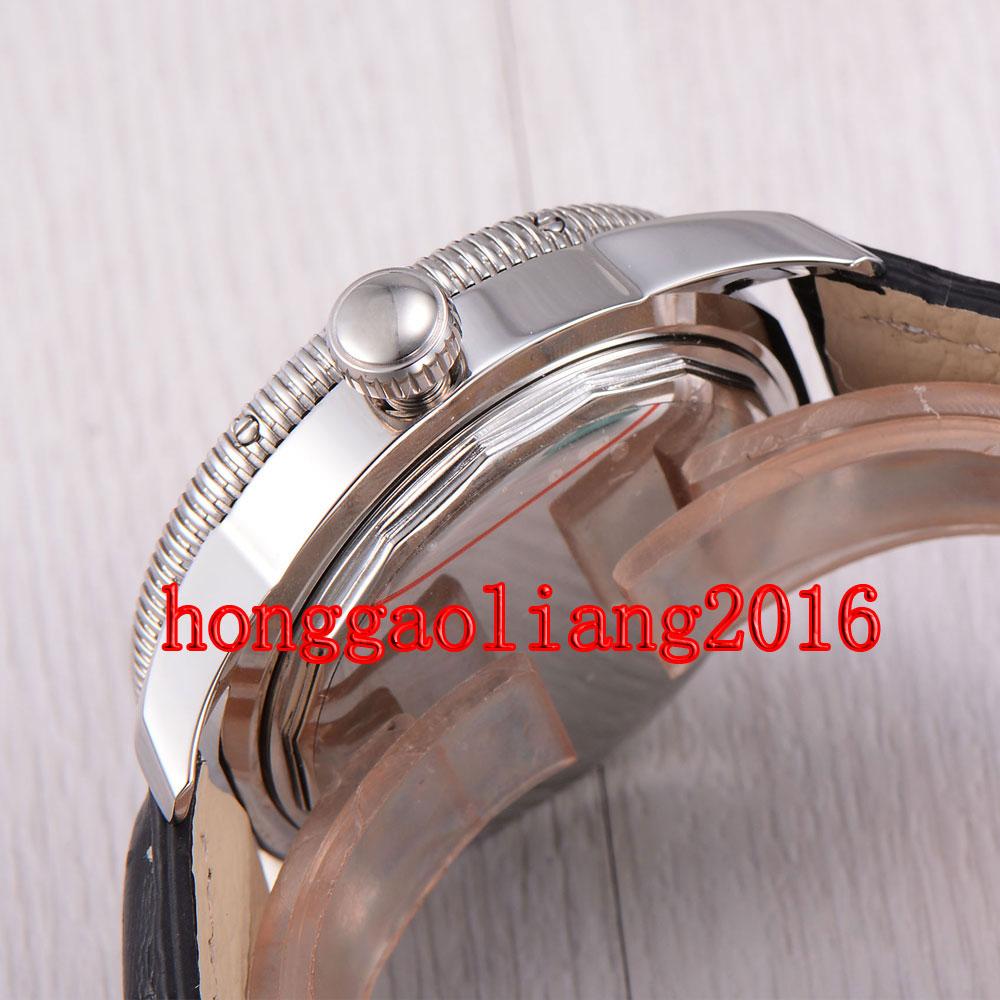 Watch marks on wrist - 46mm White Dial Luminous Marks Sub Automatic Mechanical Mens Wrist Watch J001