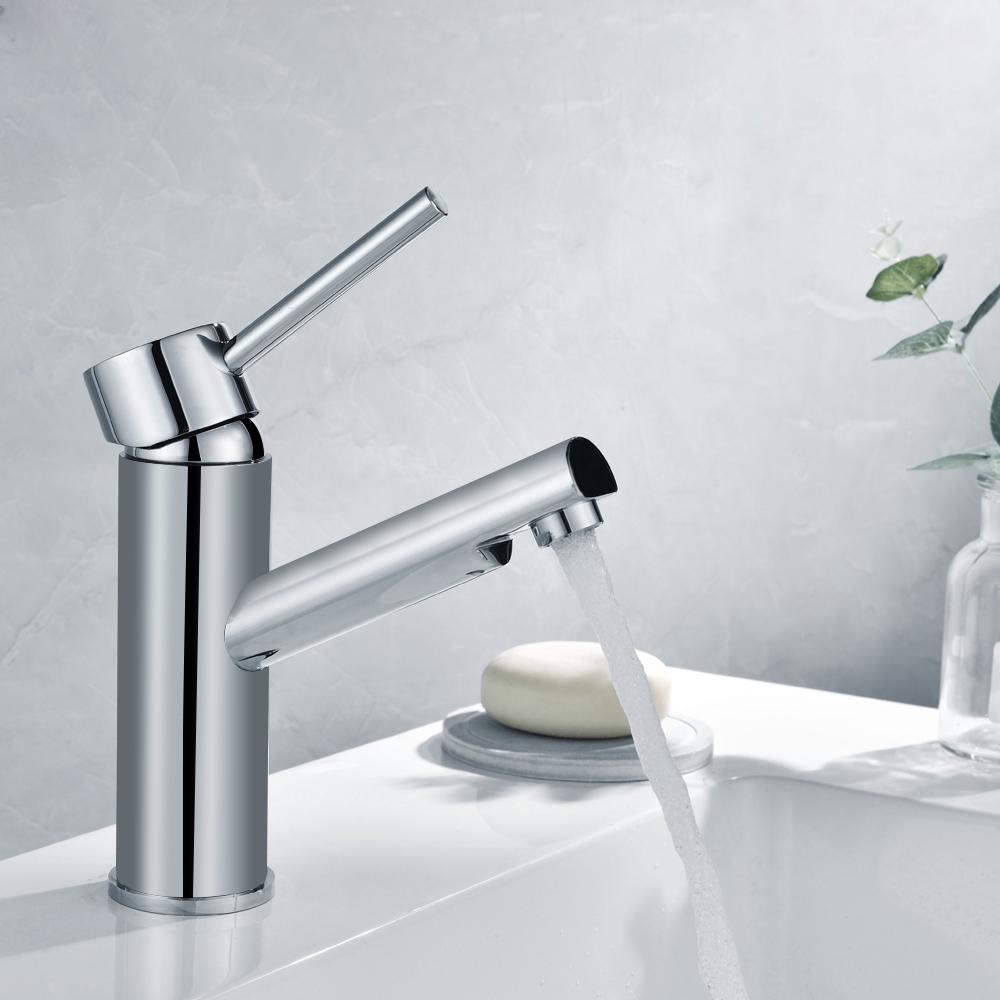 Waschbecken Bad Wasserhahn Armatur Einhandmischer Mischbatterie Waschtisch weiß