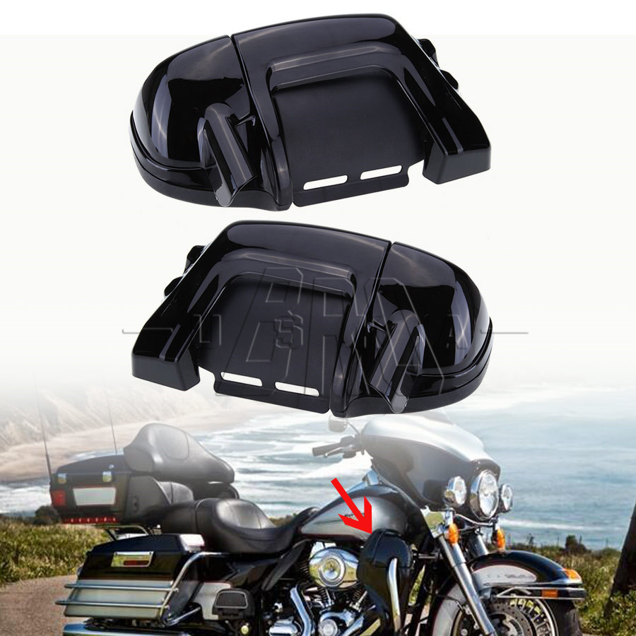 Vivid Black Lower Vented Leg Fairing fit For Harley Touring Electra Glide 83-13