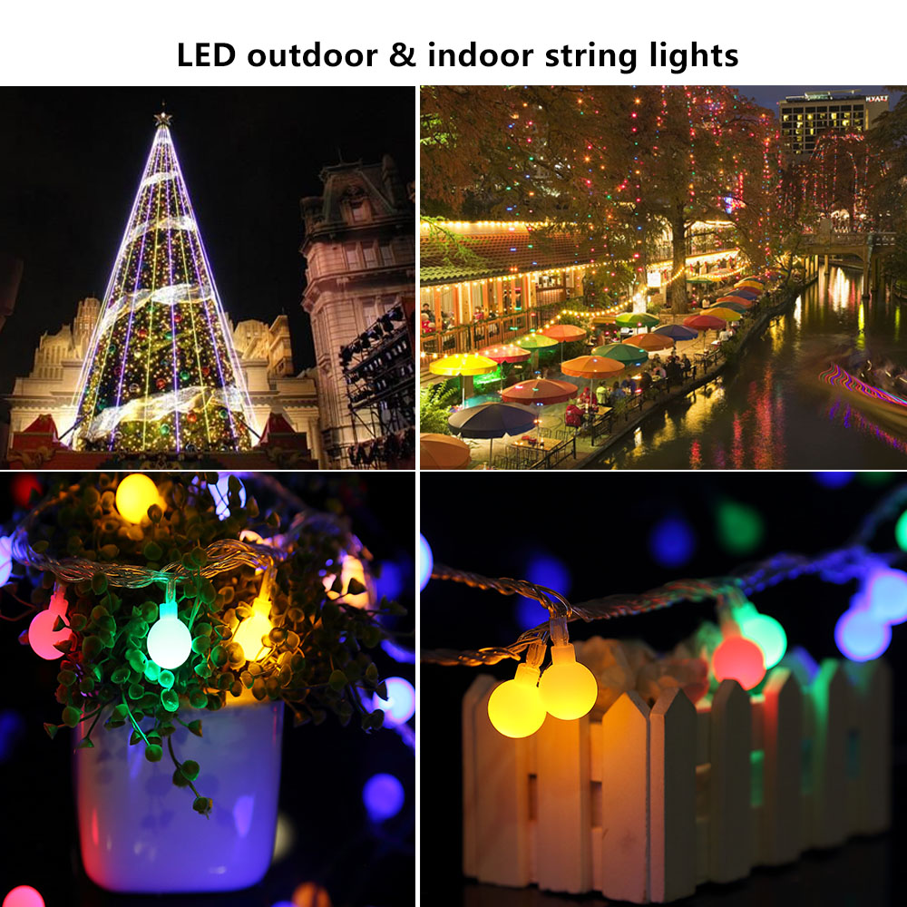 100 300er led lichterkette weihnachtsbeleuchtung au en innen beleuchtung deko ebay. Black Bedroom Furniture Sets. Home Design Ideas