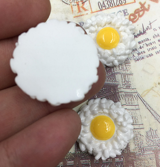 DIY 4//20//40//80PCS Fried Egg Flatback Resin Cabochon Scrapbooking//Crafts