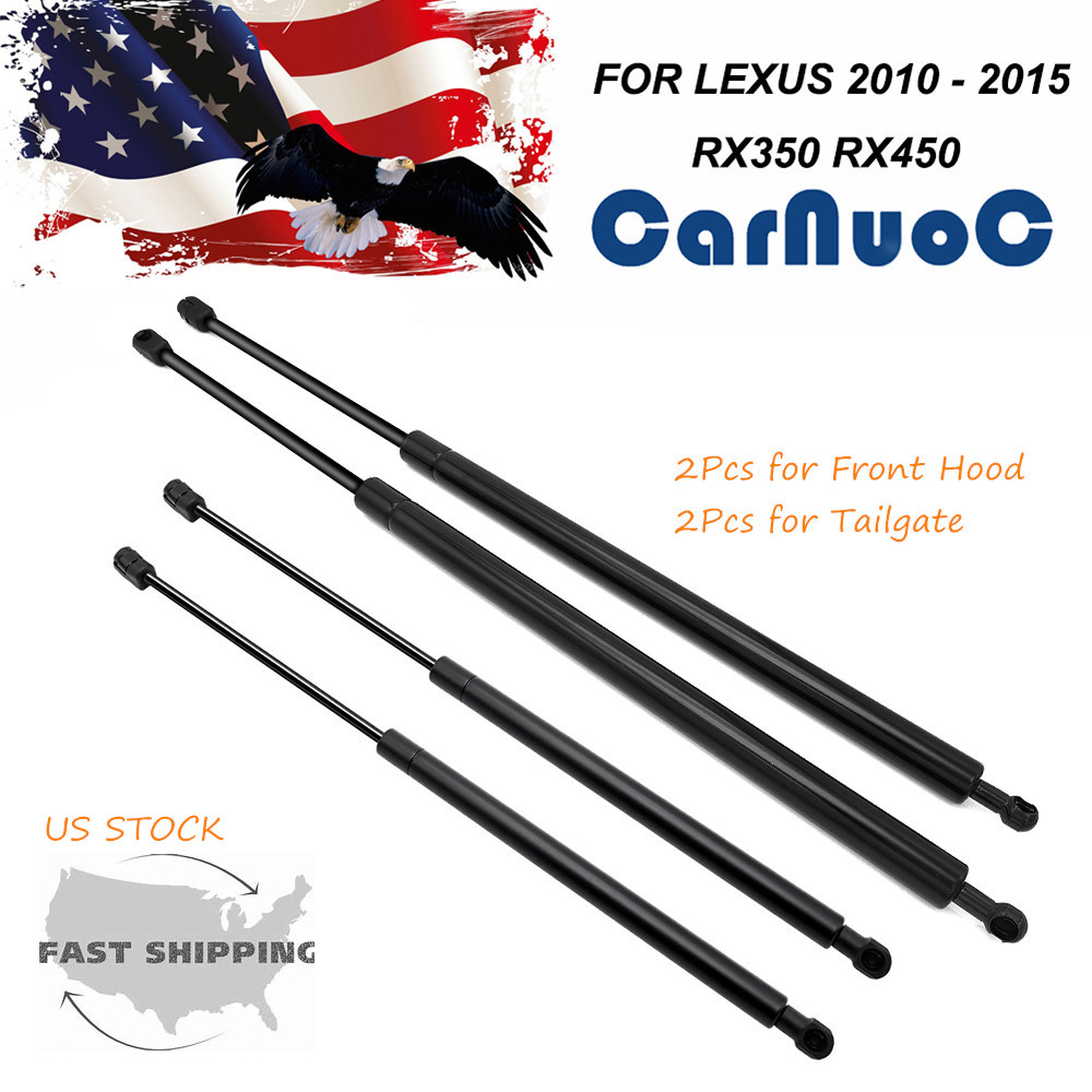 Front Hood Lift Support Spring Shock Gas Struts For Lexus RX350 RX450h 2010-15