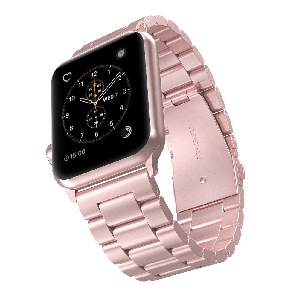 Rose Gold Stainless Steel Replacement Band Bracelet Strap For Apple Watch 38 42 Ebay