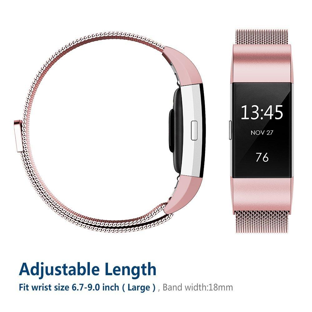 Milanese-Correa-de-Acero-Inoxidable-Reemplazo-Wristband-para-Fitbit-Charge-2