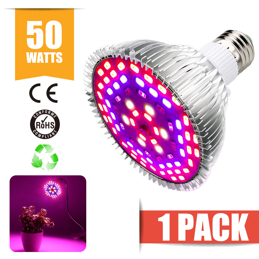 E27 80W LED Wachsen Licht Pflanzenlampe Voll Spektrum Lampen Pflanzenleuchte Veg