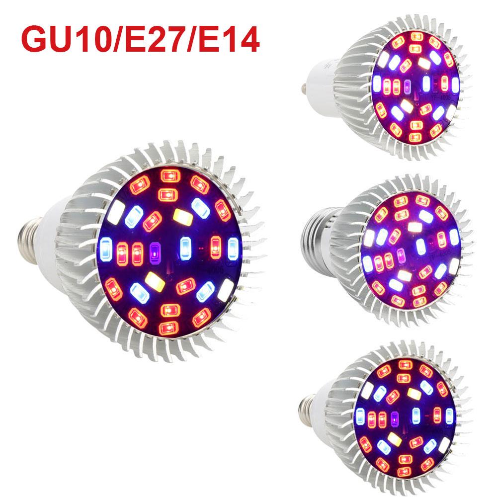 E27 LED Grow Light 3W 10W Vollspektrum Gewächshaus Pflanzen Lampe Birne Licht DE