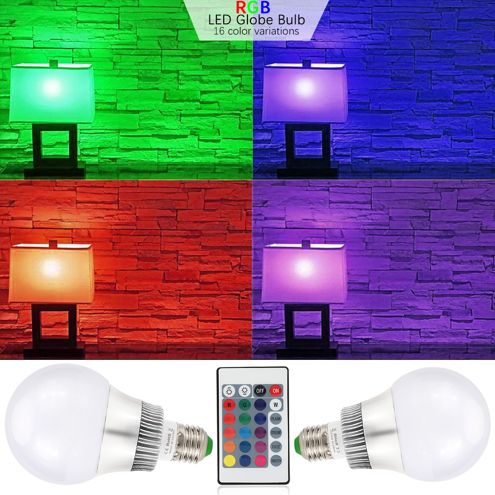 5W 10W E14 E27 RGB LED Light Bulb 16 Color Changing Smart