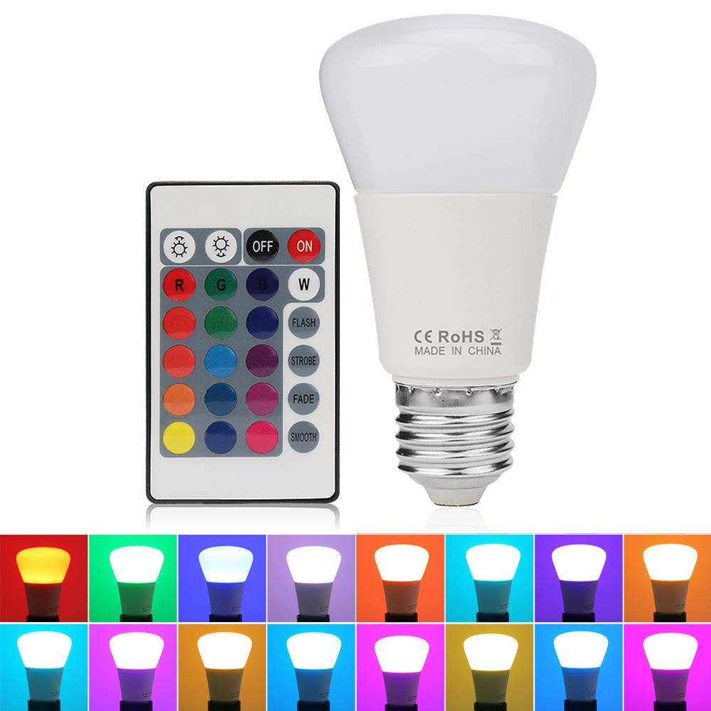 5W 16 RGB Bunte LED Birne Lampe Dimmbar Farbwechsel Glühbirne mit ...