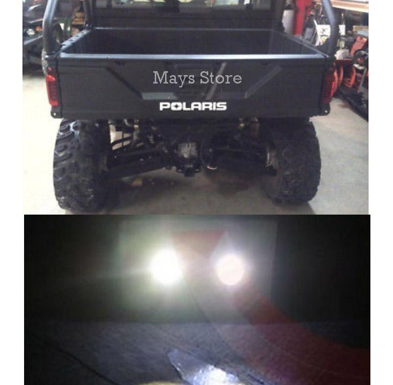 6pc Polaris Ranger LED Back-up Reverse Lights ATV RZR Sportsman 900 Turbo 1000