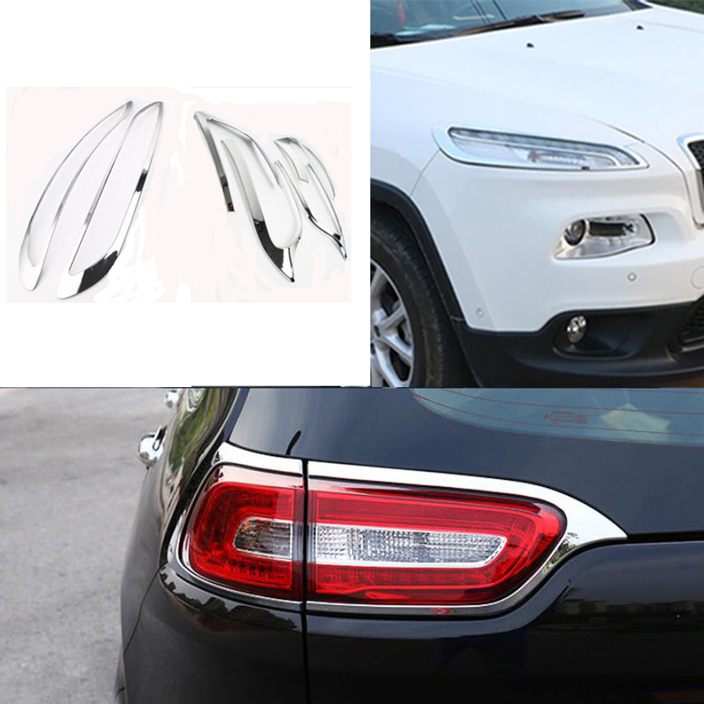Chrome ABS Head Light Switch Button Cover Trim Fit For Jeep Cherokee 2014-2018
