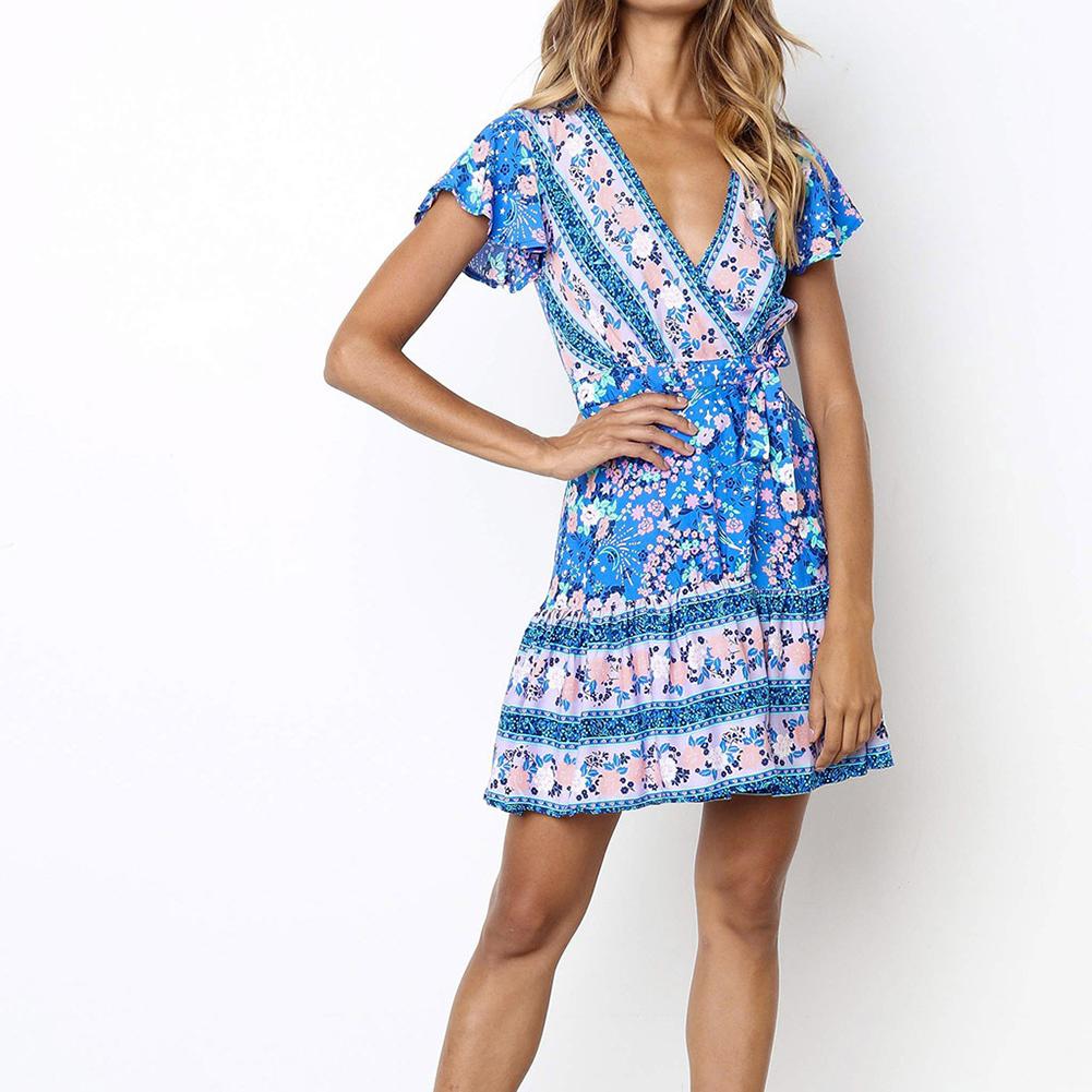 damenkleider frauen kleid damen sommer kurzarm kleid mode