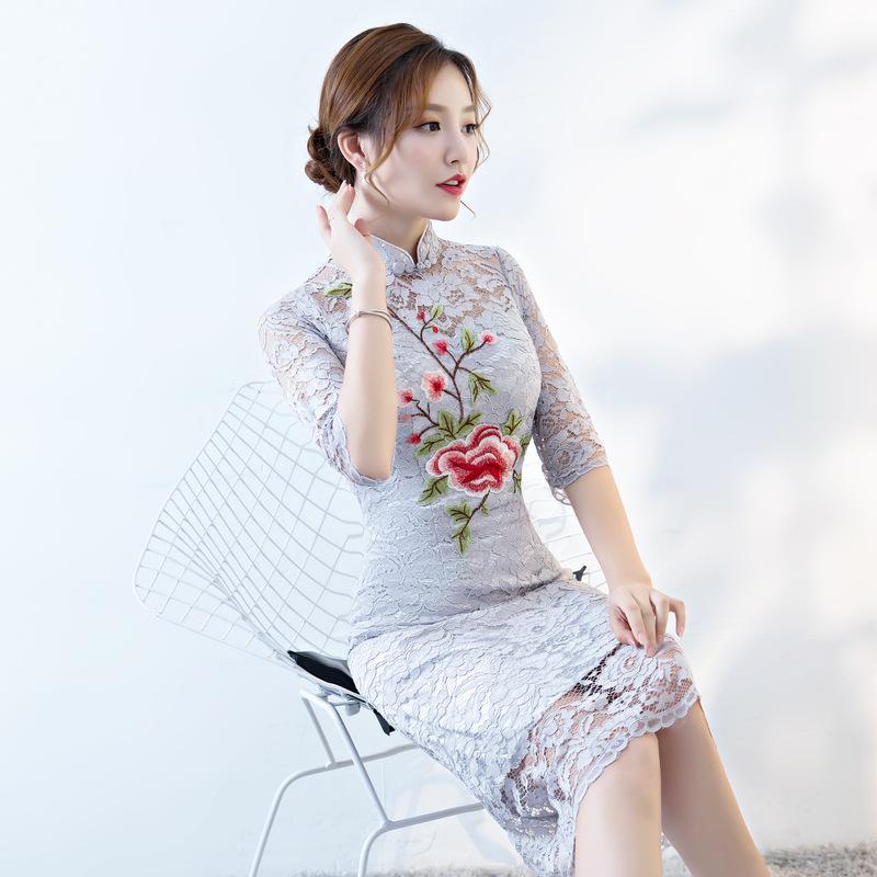 Bridal gown Chinese wedding dress lady\'s wedding dress lace dress ...