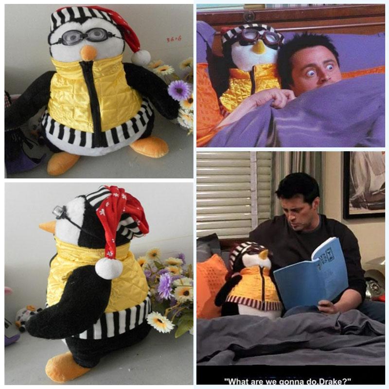 TV Series Cute Friends Joey's HUGSY Penguin Rachel Plush