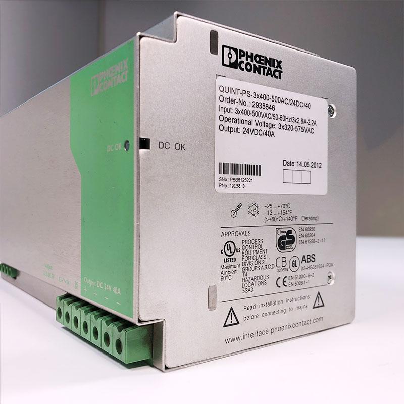 Phoenix Contact QUINT-PS-3X400-500AC//24DC//40 Power Supply 40a Amp 24v-dc