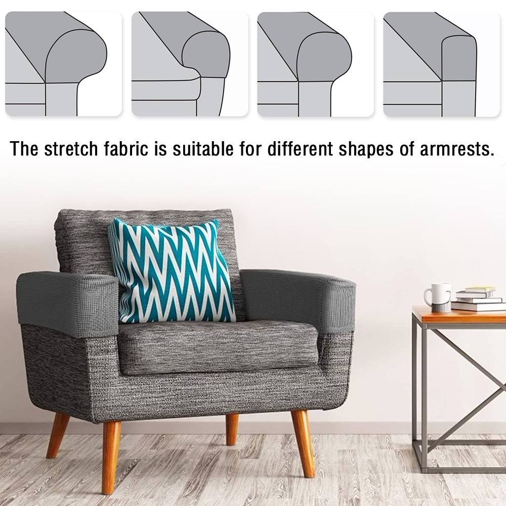 2x Removable Arm Chair Protector Universal Sofa Couch ...