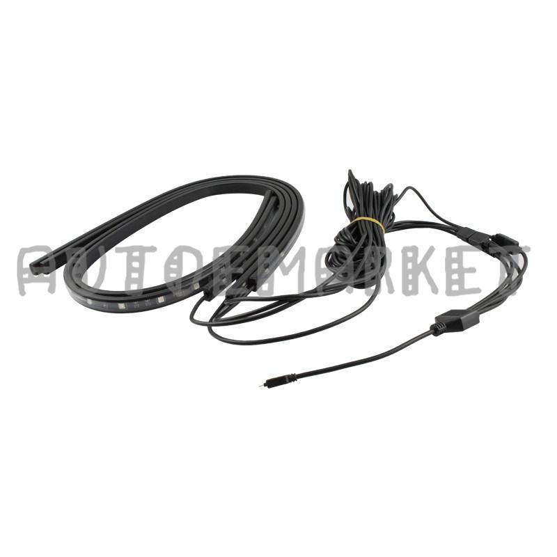 8color rgb led strip under car tube underglow underbody music control neon light 611968029325