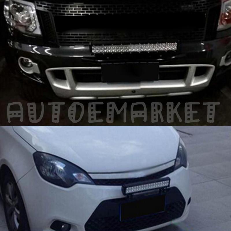 Aluminum Front Bumper License Plate Frame Offroad Light/LED Bar ...